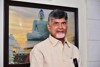 Chandrababu Naidu, who arrived in Delhi on Tuesday, has met leaders from different political parties to garner support for the no-confidence motion against the NDA. Photo: Pradeep Gaur/Mint