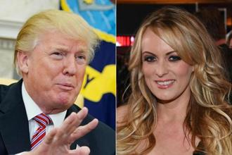 US President Donald Trump and porn star Stormy Daniels. Trump has denied having had a relationship with Daniels whose real name is Stephanie Clifford. Photo: AFP