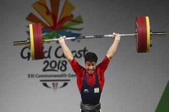 Deepak Lather lifted a total of 295kg (136kg+159kg) to finish third after his nearest rival, Vaipava Loane, fouled his last two lifts to end with a total of 292kg. Photo: AP