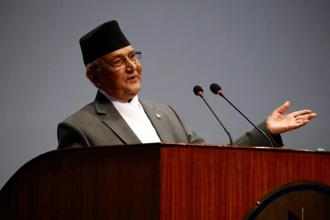 Nepal's prime minister K.P. Sharma Oli  has signalled he will take a less antagonistic approach towards India, which is Nepal's largest trading partner. Photo: Reuters