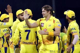 Chennai Super Kings will aim to dominate Kolkata Knight Riders in the presence of die-hard fans when they play their first Indian Premier League (IPL) home game in two years here on Tuesday. Photo: AP