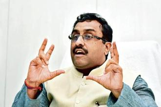 Ram Madhav's comments come as India and the US sit down to talks to ensure that differences over trade do not balloon out of control, upsetting other strands of the relationship. Photo: HT