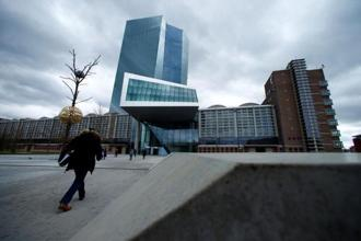 European Central Bank (ECB) headquarters building in Frankfurt, German. Photo: Reuters.