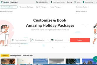 Founded in 2011, TravelTriangle connects users with travel agents online, fetches price quotations, customize holiday trips, and make bookings online.