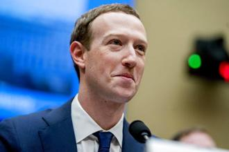 Facebook CEO Mark Zuckerberg during his testimony on the use of Facebook data by Cambridge Analytica to target voters in the 2016 US presidential election. Photo: AP