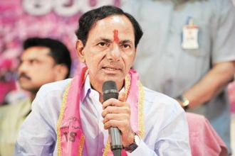 Telangana CM K.Chandrasekhar Rao said that the two existing 'systems'—BJP and Congress—had failed to deliver on promises or resolve decade-old issues in the country. File photo: AFP