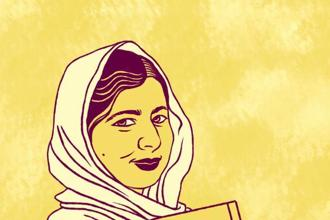 Malala Yousafzai from the first 'Rebel Girls' book.