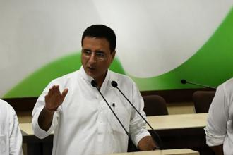 In a Twitter post, Congress communications in-charge Randeep Surjewala referred to the Modi government as 'surveillance sarkar' which had shattered to pieces the right to privacy. Photo: Hindustan Times