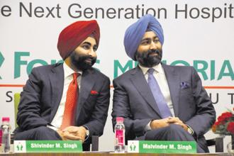 In January, a Delhi court asked Fortis Healthcare's Malvinder Singh and his brother, Shivinder, to pay a $550 million arbitration award to Daiichi Sankyo Co. Photo: Hindustan Times