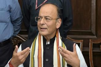 Union finance minister Arun Jaitley. Congress leader Jaiveer Shergill said the BJP should explain how Jaitley agreed with the American Charge de'affairs' point that Narendra Modi was a 'polarising personality'.