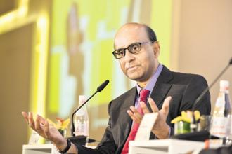 Singapore's deputy prime minister Tharman Shanmugaratnam at the MintAsia-Hindustan Times Leadership Summit. Photo: MintAsia