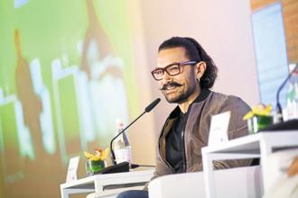Actor-producer Aamir Khan at the MintAsia-Hindustan Times Leadership Summit in Singapore.