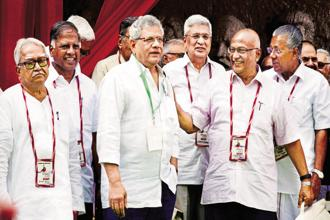 CPM general secretary Sitaram Yechury says that a 'campaign of terror' had been unleashed against Left activists. Photo: PTI