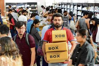 The appeal of 'Lock the Box', as the event was called, lay in its innovative format. BookChor, which deals in used books, had cardboard boxes of three sizes, graded by price, and, named, rather imaginatively, after heroes from Greek mythology.