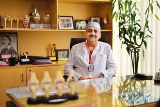Sanjiv K.S. Marya at his office in Medanta. Photos: Pradeep Gaur/Mint