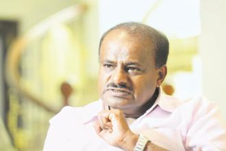 JD(S) leader H.D. Kumaraswamy has taken it upon himself to defeat incumbent Channapatna legislator C.P.Yogishwar, who will be contesting on a BJP ticket. Photo: Hemant Mishra/Mint
