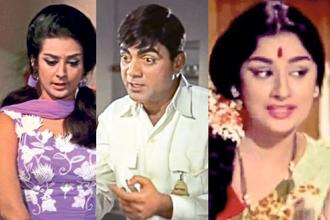 (from left) Stills from 'Padosan', 'Sadhu Aur Shaitaan', and 'Teen Bahuraniyan'.