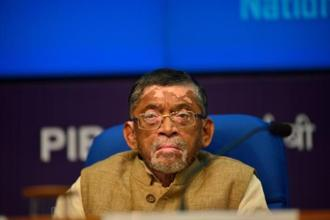 Union minister Santosh Kumar Gangwar. Photo: Pradeep Gaur/Mint