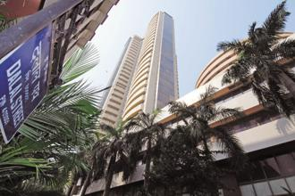 Though the benchmark Sensex has gained 1.2% so far this year, it is still down 5% from its peak of 36,283.25 points witnessed on 29 January. Photo: Hemant Mishra/Mint