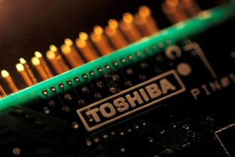 A Toshiba spokesman says the company was still aiming to complete the sale as soon as possible. Photo: Reuters