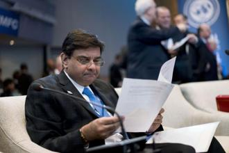 On the whole, real GDP growth is expected to expand at 7.4% in 2018-19, with risks evenly balanced, RBI governor Urjit Patel said at the International Monetary and Financial Committee meeting in Washington DC. Photo: Bloomberg