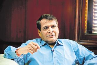 A file photo of commerce minister Suresh Prabhu. DIPP in August last year floated a draft industrial policy with an aim to create jobs for the next two decades, promote foreign technology transfer and attract $100 billion FDI annually. Photo: Pradeep Gaur/Mint