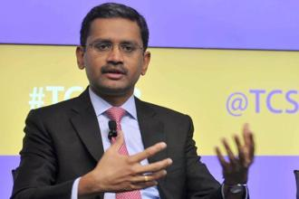 TCS CEO Rajesh Gopinathan has called the IT giant's growth a 'turnaround'  performance. Photo: PTI