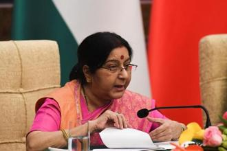 Foreign minister Sushma Swaraj is on a visit to China. Photo: Reuters