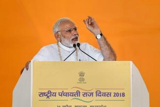PM Narendra Modi also pitched for a social movement to ensure the safety of women and girls while addressing a rally in Mandla. Photo: PTI