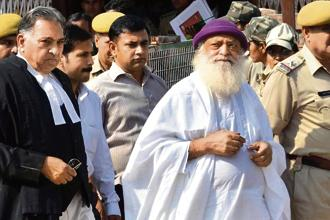 Asaram was arrested after a minor girl from Uttar Pradesh, a student at his ashram in Madhya Pradesh's Chhindwara, alleged that he had called her to his ashram in Manai near Jodhpur and raped her on the night of 15 August, 2013. Photo: HT