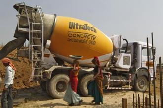 On a consolidated basis, UltraTech Cement's profit came in at Rs724 crore. Photo: Reuters