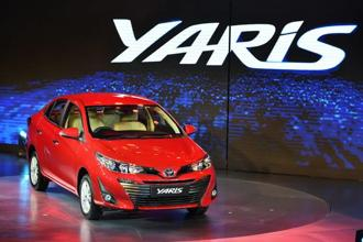 Toyota Yaris' introductory prices range between Rs8.75 lakh and Rs14.07 lakh (ex-showroom). Photo: PTI