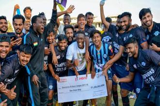 I-League champions Minerva Punjab. Photo: PTI