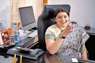 Smriti Irani, union minister of information and broadcasting. File photo: HT