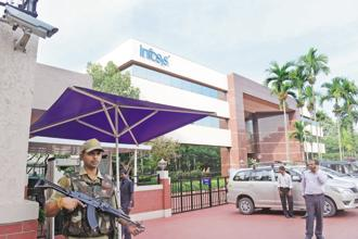 Infosys seems to be relatively better placed than TCS for much of the previous fiscal, as reflected by its 7.4% dollar revenue growth against TCS's 6.2%. Photo: Hemant Mishra/Mint