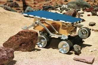 A research model of the 'Mars Pathfinder Sojourner' rover. The electronics box on the rover—which explored the planet in 1997—was insulated with aerogel. Photo: Reuters
