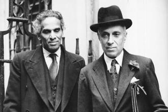 V.K. Krishna Menon (left) and Jawaharlal Nehru in London in 1949. Photo: Getty Images