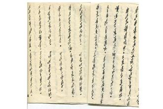 The 'nüshu' script written by Yi Nianhua, an elderly Chinese woman, in the late 1980s with a 'shabby' writing brush. Photo: Cathy Silber
