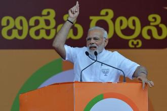 "Prime Minister Narendra Modi was apparently referring to the Siddaramaiah govt's controversial decision to celebrate ""Tipu Jayanti"" every year on 10 November to commemorate the memory of Tipu Sultan. Photo: AFP"