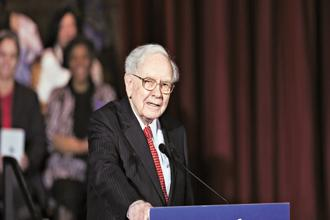 Warren Buffett, chairman and CEO Berkshire Hathaway. Photo: Bloomberg