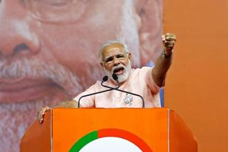 Narendra Modi labelled the Congress a 'deal party'. Photo: Reuters