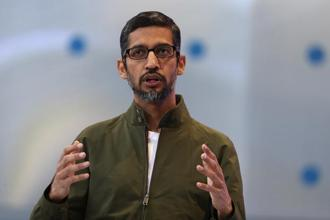 Sundar Pichai wants to push Google's AI capabilities to enhance digital well-being and allow users to achieve a desired balance with technology. Photo: AFP