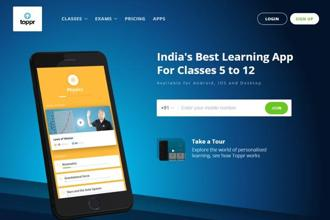 Toppr, founded by Zishaan Hayath and Hemanth Goteti in 2013, offers learning programs focused on school curriculum and test preparation for major engineering and medical entrance exams in India.