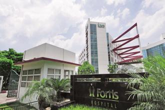 Fortis Healthcare's shares fell 2.7% on Friday, and are down 7% this year. Photo: Ramesh Pathania/Mint