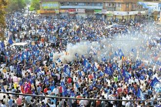 Dalit groups had organised protests across the country on 2 April against the 'dilution' of the SC/ST Act through the Supreme Court's 20 March verdict. Photo: PTI