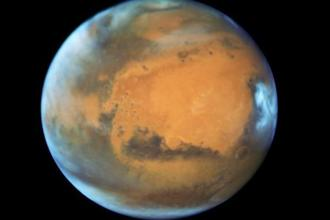 The planet Mars is shown in this NASA Hubble Space Telescope view taken on 12 May, 2016 when it was 50 million miles from Earth. Photo: Reuters