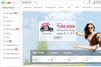 Droom was launched in 2014 by Sandeep Aggarwal, a co-founder of e-commerce firm ShopClues.