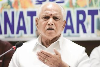 B.S. Yeddyurappa. The Supreme Court  bench posted the matter for further hearing on Friday, saying it will peruse the letter as it was necessary to decide the matter. It also issued notices to the Karnataka government and Yeddyurappa. Photo: HT