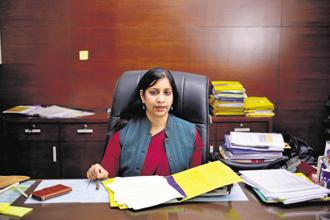 Aruna Sundararajan, secretary to ministry of electronics and information technology. File Photo: Pradeep Gaur/Mint
