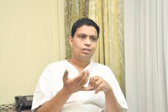 Acharya Balkrishna, managing director of Patanjali Ayurved Ltd. Photo: Ramesh Pathania/Mint
